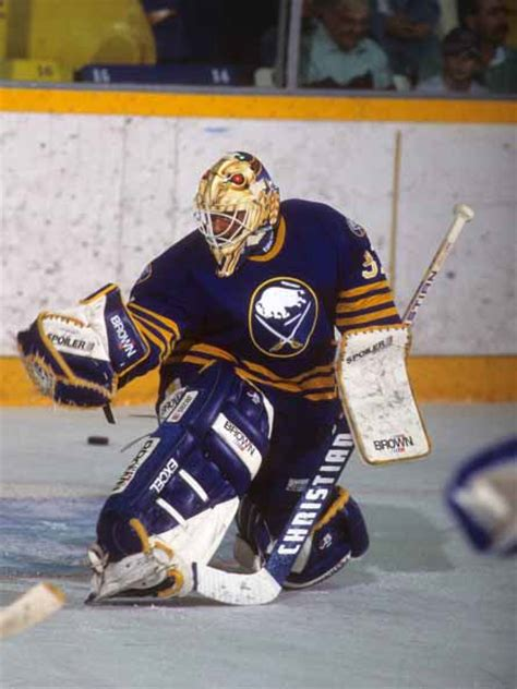 Grant Fuhr Buffalo Sabres Blue Christian Game Used Stick