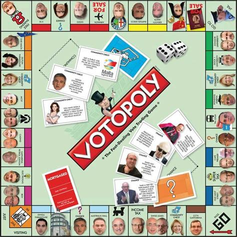 Votopoly: a parody board game retracing this year's