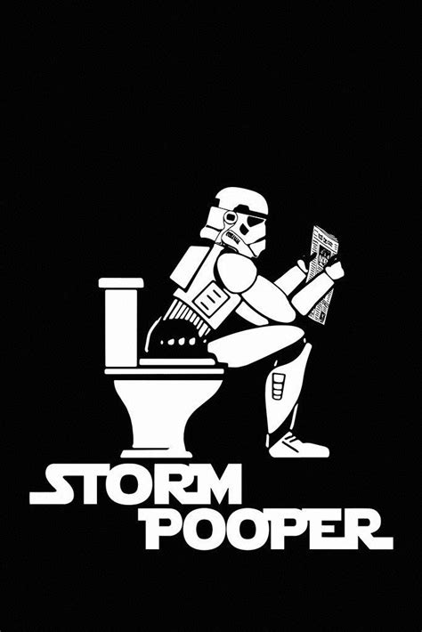 Stormtrooper On The Toilet Star Wars Funny Humor Poster