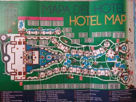 resort map - Picture of Grand Sunset Princess All Suites