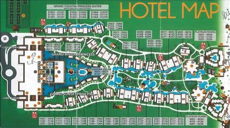 Hotel map - Picture of Grand Riviera Princess All Suites