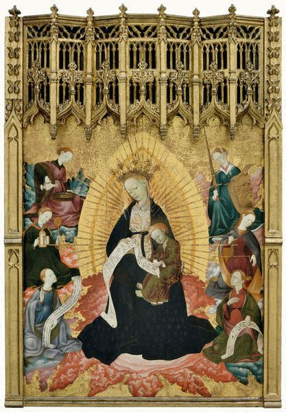 Enthroned Virgin and Child with Personifications of the