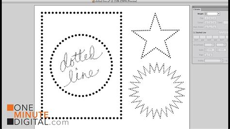 Make Dotted Lines in Illustrator - YouTube