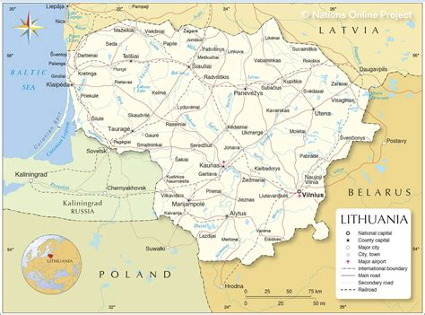 Political Map of Lithuania - Nations Online Project