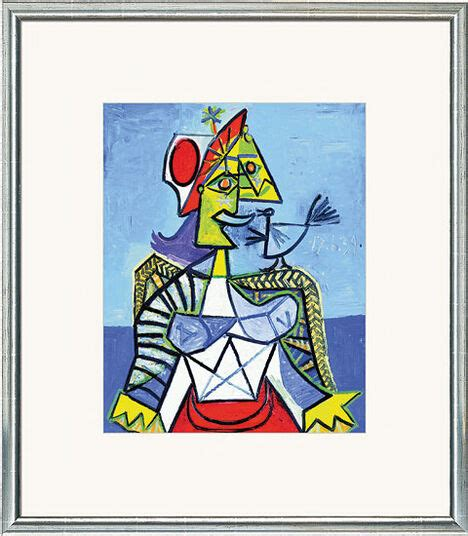 """Painting """"Woman with Bird"""" by Pablo Picasso"""