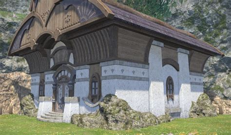 Glade Cottage Wall (Stone) FFXIV Housing - Exterior