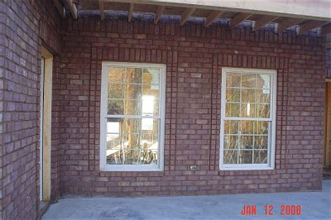 Glenn & Shirley's Home Construction: Brick Work Completed