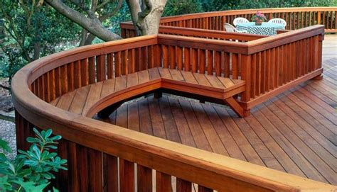 4x6 Beam Railing with 2x4 Balusters and Bench - Deck