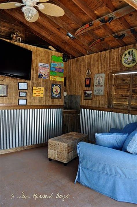 Love the walls for a bar and also I love the skis on the