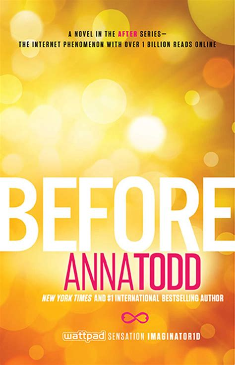 Before   Book by Anna Todd   Official Publisher Page