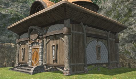 Glade Cottage Wall (Wood) FFXIV Housing - Exterior
