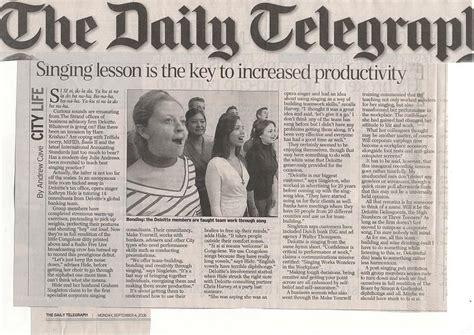 In the news - Daily Telegraph Sept 2006 : Makeyourself