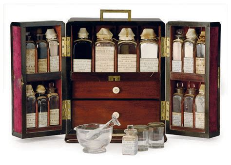 A VICTORIAN MAHOGANY DOMESTIC MEDICINE CHEST, | BY SAVORY