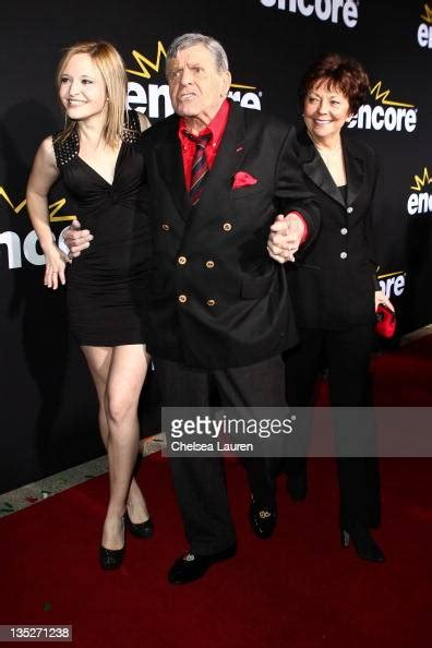 Actor Jerry Lewis , daughter Danielle Sarah Lewis and wife