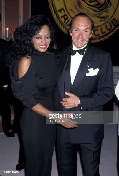 Diana Ross and Arne Naess during Friars Club Tribute To