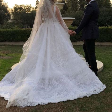 Zuhair Murad Pure White Horse Hair and Beaded Lace Bridal