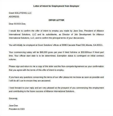 31+ Letter of Intent for a Job Templates - PDF, DOC   Free