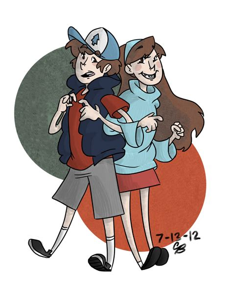Dipper and Mabel Pines by Camilleonn on DeviantArt