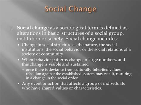 PPT - Social Change PowerPoint Presentation, free download