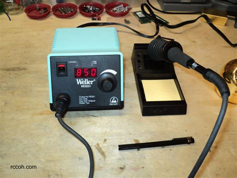 RC Tools and Tips | Weller WESD51 Soldering Station | RCCOH