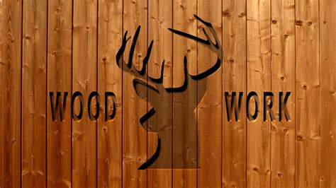 photoshop cutting wood text effect tutorial - YouTube