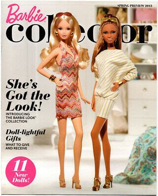 BARBIE COLLECTOR Barbie Collection Catalog Book Ad