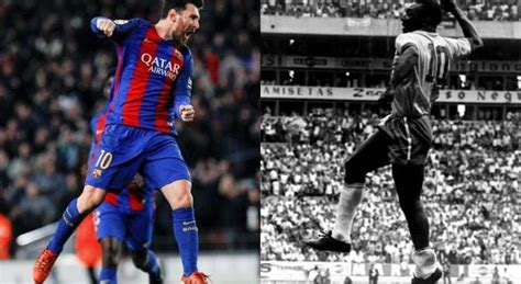 Leo Messi 16 goals away from surpassing 36-years old Pele
