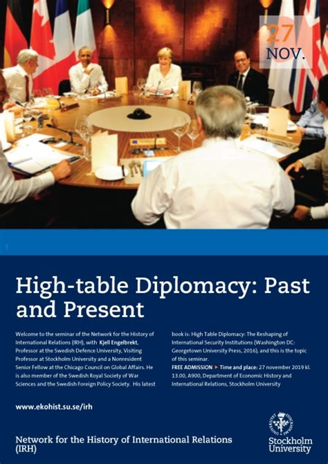 High-table Diplomacy: Past and Present - Institutionen för