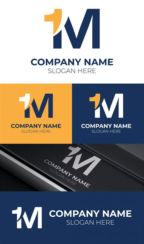 1M Initial Letter Logo Design Free Template